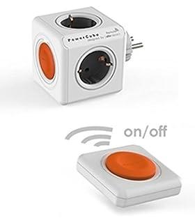 360/° drehbare Ringhalterung Halterung // St/änder f/ür Handy Gr/ün 5x Steckdose und Verteiler, 230V Schuko Keine USB habe Allocacoc PowerCube Original Steckdosenleiste Reiseadapter