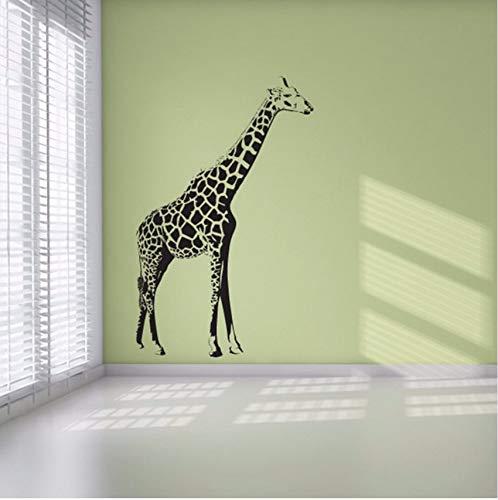 Lvabc Wohnkultur Selbstklebende Aufstehen Giraffe Wandaufkleber Kindergarten Kinderzimmer Vinyl Tier Wandbild Aufkleber 37X59 Cm (Einfach Aufstehen Für Halloween)