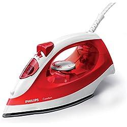 Philips GC1433/40 Fer à repasser, 2000 W, 0.22 Litre, Blanc, Rouge