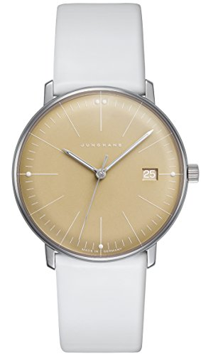 Junghans Max Bill Women's Watch Analogue Quartz Leather White 047-4657.00