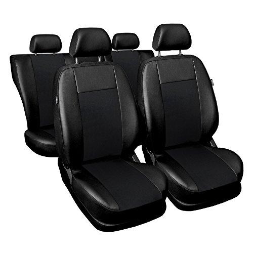Universal Schwarz Kunsleder Sitzbezüge Komplettset Sitzbezug für Auto Sitzschoner Set Schonbezüge Autositz Autositzbezüge Sitzauflagen Sitzschutz Superior Autositzbezüge Für Ford Fusion