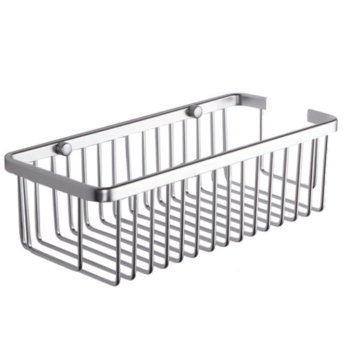 KES A4023 Duschkorb aus Aluminum, rechteckig, Wandmontage