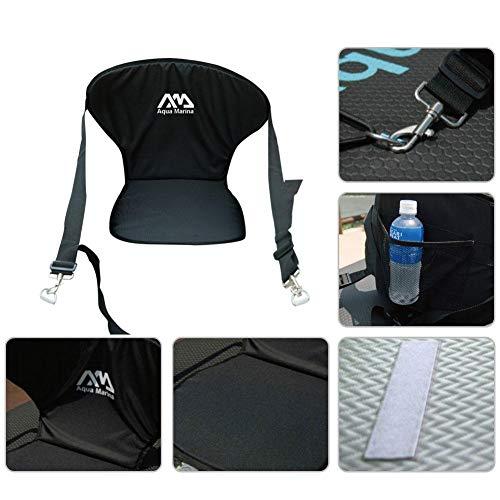 sedile kayak confortevole kayak imbottito schienale rimovibile per canoa borsa da stiva post sport posteriore alto comfort supporto regolabile resto cuscino pad canottaggio eva waterslide
