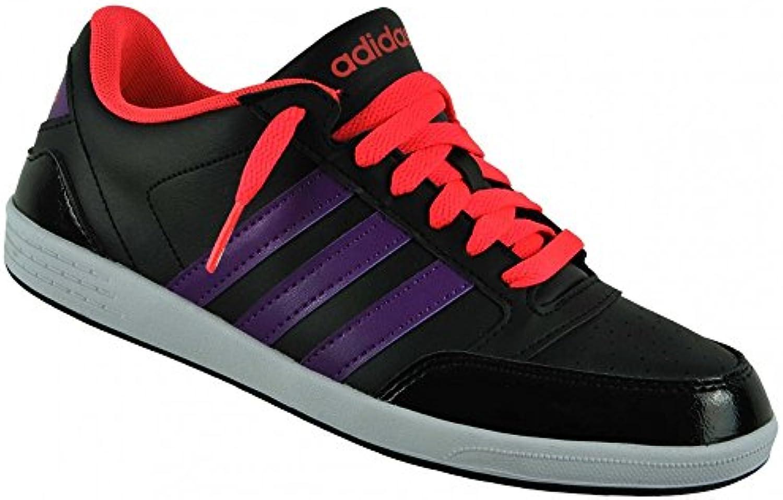 adidas neo vlneo hoops lo w Noir Noir Noir  rose - violet femmes chaussures chaussures fa1c97