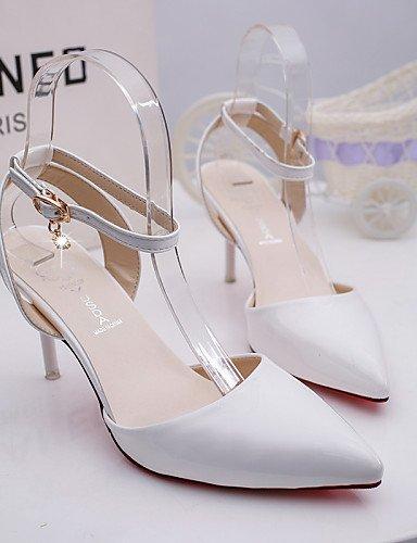 UWSZZ IL Sandali eleganti comfort Scarpe Donna-Scarpe col tacco-Matrimonio / Ufficio e lavoro / Casual-Tacchi / A punta-A stiletto-Finta pelle-Rosa / Bianco / Argento / Pink