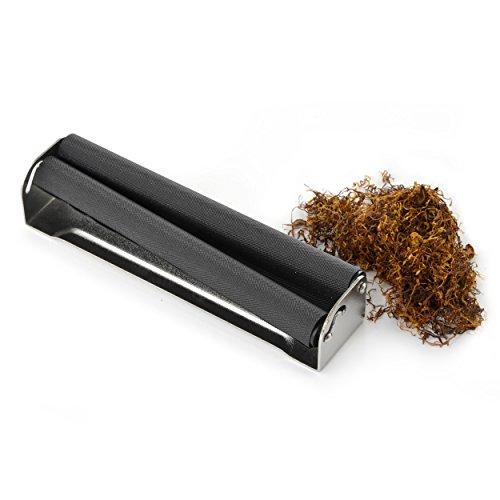 XXL Zigarettendrehmaschine für Drehtabak ect., Zigarettenroller, Zigarettenwickler, Zigarettendreher, Drehzigaretten Wickler, Dreher, Tabak, Farben: silber/schwarz, Marke Ganzoo