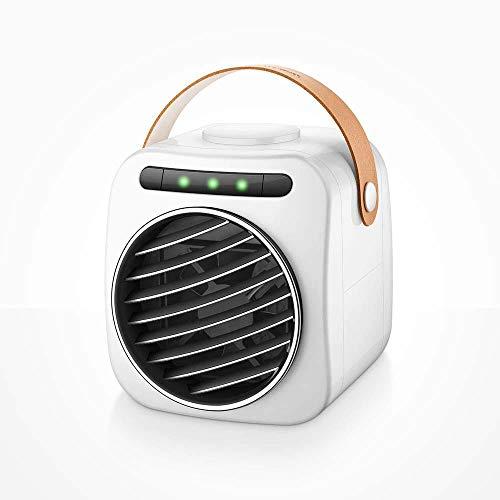 LuftküHler Mini Klimaanlage Tragbar,Womdee Mini Air Cooler 3 in-1 Luftkühler Luftbefeuchter Luftreiniger,USB Tragbare Kühler 3 Lüftergeschwindigkeiten Mobile Klimageräte Luftbefeuchter für Home Office