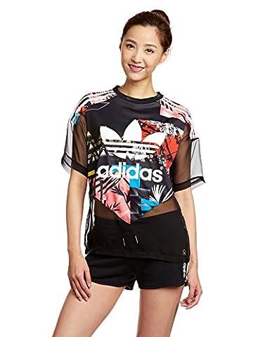 Adidas Soccer T-Shirt pour femme 40 Black/Multicolor