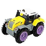 Webla Agriculteur pour Enfants Camion À Benne Basculante Simulation 4 Roues Motrices Jeep Electric Stunt Toy Car