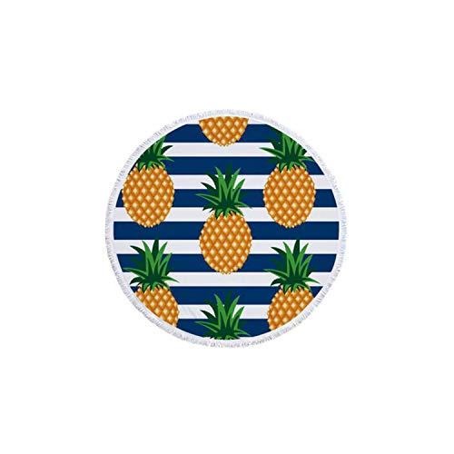 dtuch, rund, 150 cm, Ananas Bedruckt, Mikrofaser-Duschtücher, rund, Bohemia-Design, 150 cm dick, C ()