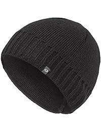 Gwinner Strickmütze warme und dicke Wintermütze ideal für kalte Tage G7, schwarz