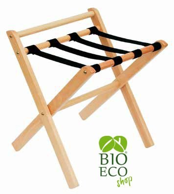 Bioecoshop PortaValigia In Legno Bioeco IL OLG Mis 50X46X59 h Cm Tinta Naturale Made In Italy