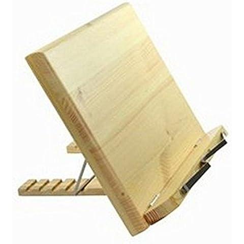 Lenhart atril para libro de madera/Bookstand (ordenador portátil/ipad/libro//Music Stand/Soporte para libro de cocina
