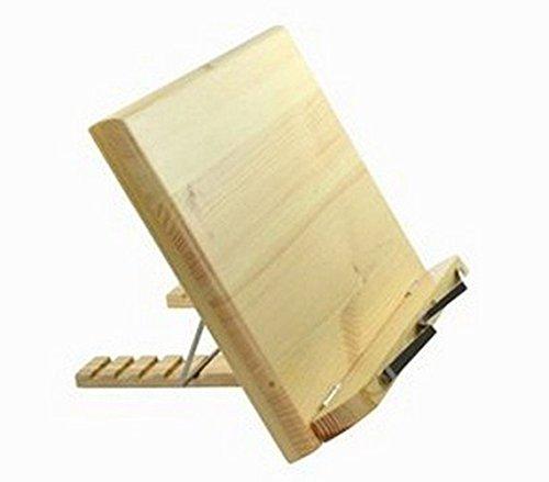 Lenhart atril libro madera/Bookstand portátil/iPad/libro/Libro