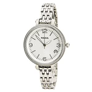 Fossil Damen-Armbanduhr XS Heather Mid-Size Analog Quarz Edelstahl ES3180