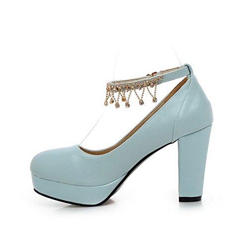 1TO9 Girls fibbia in metallo catena nuziale gomma pumps-shoes Blue