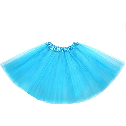 Tutu Ballett Kostüme Klassischer (OMorc 3-geschichtete Tüllrock mit elastischem Bund, Tütü Tutu Petticoat Ballettrock in verschiedenen Farben, perfekt für Tanzklassen, Party, Kostüme-)