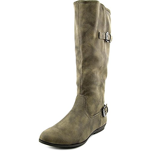 White Mountain Finalist Wide Calf Femmes Synthétique Botte Stone