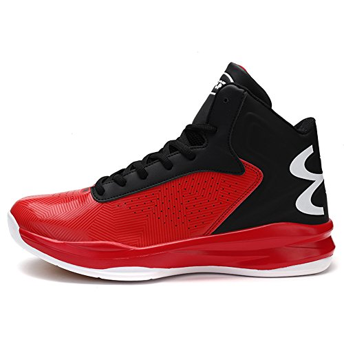 Gomnear Hommes Chaussures de basket-ball Outdoor Performance Sneakers respirant de mode Rouge