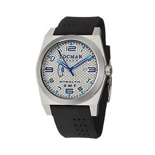 Montre Locman Homme 0200au quartz (Batterie) Quandrante titane acier bracelet CAUCCIU '