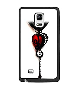PrintDhaba Heart Pendant D-1221 Back Case Cover for SAMSUNG GALAXY NOTE 4 EDGE (Multi-Coloured)