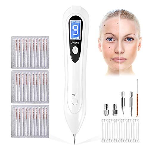 Muttermal Entfernen, TOPVORK Mole Removal Pen - Entfernung Warzen, Nävus, Muttermal,Tattoo, Professioneller Schönheits-Stift mit 9 Stärke Stufen für Gesicht und Körper, mit LCD-Bildschirm -