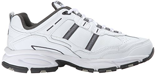 Skechers Sport Men's Vigor 2.0 Serpentine Oxford, White/Charcoal, 11 2E US White/Charcoal