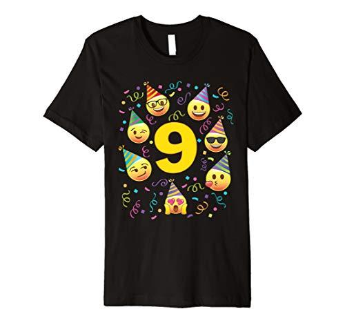 Emoji-9Neun Jahre alt Mädchen Boy Party Hat Premium T-Shirts Preisvergleich