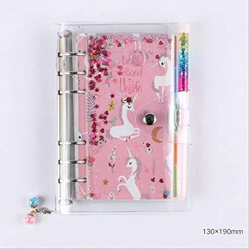 YNIME Neue süße Einhorn Notebook Bullet Journal Set mit Stift Tagebuch Planer Schreibwaren Reisenden Notizblock Tagebücher SchulbedarfNotebook Pen-C -