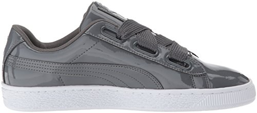 PUMA Women s Basket Heart WN s Sneaker  Iron Gate-Iron Gate  9 5 M US