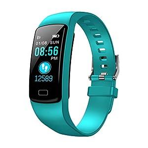 A-Artist Fitness Tracker mit Pulsmesser, Fitness Armband Aktivitätstracker Herzfrequenzmonitor Schrittzähler Uhr Vibrationsalarm Anruf SMS Beachten für IOS Android Handy