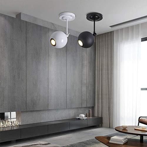 WU Gyy Home Hotel Beleuchtung Exquisite Kronleuchter LED Wohnzimmer Hintergrund Wand Strahler Kreative Einfache Persönlichkeit Schlafzimmer Deckenleuchte Lampe E27,Weiß-25 * 11cm