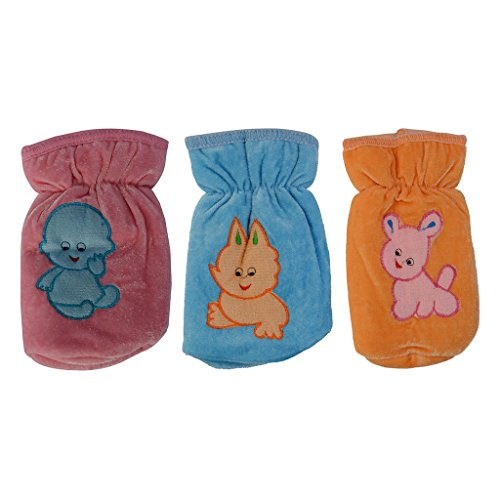 Aarushi Multi Colour Baby Milk Bottle Cover (Pack of 3)