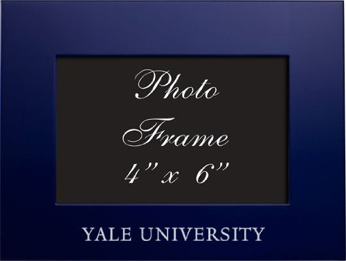Yale Frames (Yale University - 4x6 Brushed Metal Picture Frame - Navy by LXG)