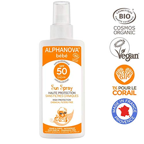 Alphanova - Crema solar bebe f50 bio spray