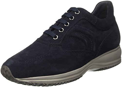 Geox U Happy Art. H, Sneakers Basses Homme, Marron Bleu (Navy)
