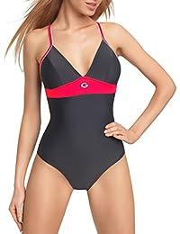Gwinner Damen Badeanzug- Geeignet Für Freizeit Und Sport - Ideale Passform - Beständig Gegen UV Und Chlor -Made In EU #Rosanna