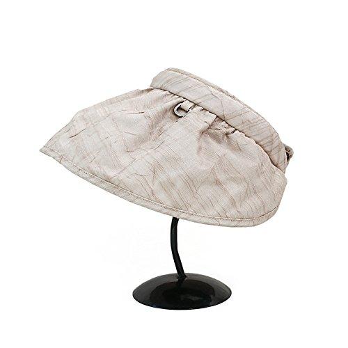 KYXXLD Sommer Sonnenschirm Hut Faltbarer Windschutz atmungsaktiv Freizeitaktivitäten Sonnenhut Kakao Farbe -