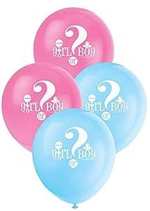 Partido Ênico de 12 pulgadas de látex género revela Globos Baby Shower (paquete de 8)