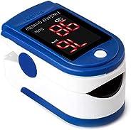Fullbeing Pulsossimetro da Dito,saturimetro da Dito, misurazione Rapida di 10 Second,OLED Ossimetro di Sangue