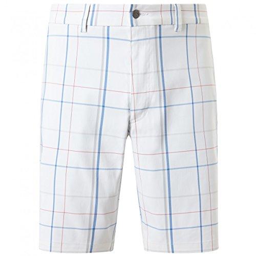 Callaway Golf Herren Large Scale karierte Shorts - Bright Weiß - 36
