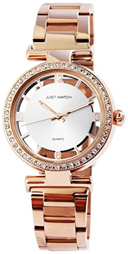 Just Watch Orologio da polso da donna in acciaio inox Band analogico al quarzo jw10057 – 001