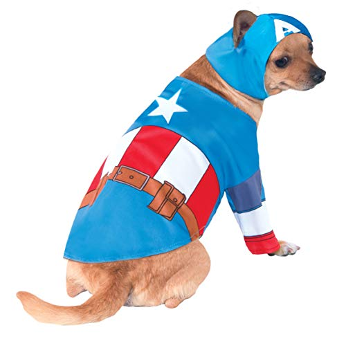 Rubie's 3580070 - Captain America Hundekostüm, L (Captain America Hund Kostüme)