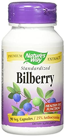 Bilberry, Standardized, 90 Capsules - Nature's Way