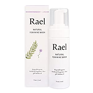 Rael Natural Feminine Cleansing Wash - 1.6oz(50ml) -For Sensitive Skin - Light and Fresh Scent (150 ml ( 5 oz ))