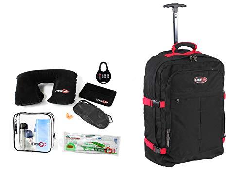Cabin GO cod. MAX 5525 trolley Tracolle a Scomparsa - Zaino bagaglio a mano/cabina da viaggio leggero. - 55 x 40 x 20 cm, 44 litri - con ruote. Approvato volo IATA/EasyJet/Ryanair
