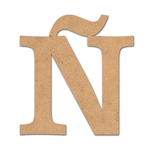 Canevas pour enfant Loisirs créatifs - Lettre en bois 10 cm Ñ