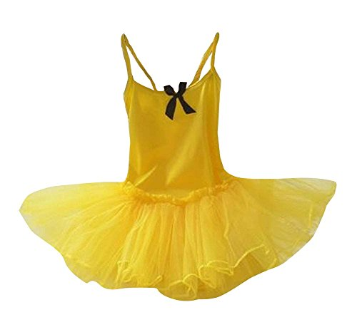 Filles Ballet Gymnastics Tutu Danse Costume pour les enfants jaune et noir