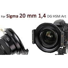 Soporte de filtro de alta calidad de metal marca HAIDA para el Filtros de Plug-in de la Serie 150 para Sigma 1:1,4/ 20 mm DG HSM Art
