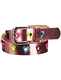 Playshoes PU-gürtel Herzchen Pink Cinturón para Niñas